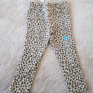 BNWT Children's Place stretch cheetah jeggings, 2T